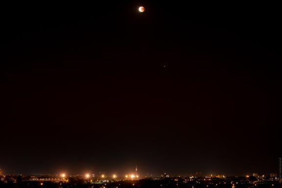 La lune et Mars