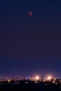 La lune et la cathédrale de strasbourg