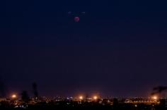 la lune au dessus de strasbourg