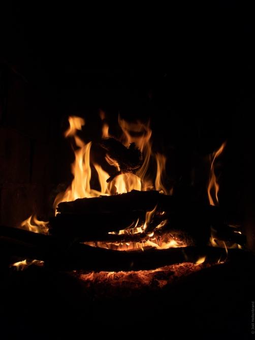 L'âtre de la cheminé