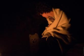 Entre un maitre et son chien, en train de se rechauffer